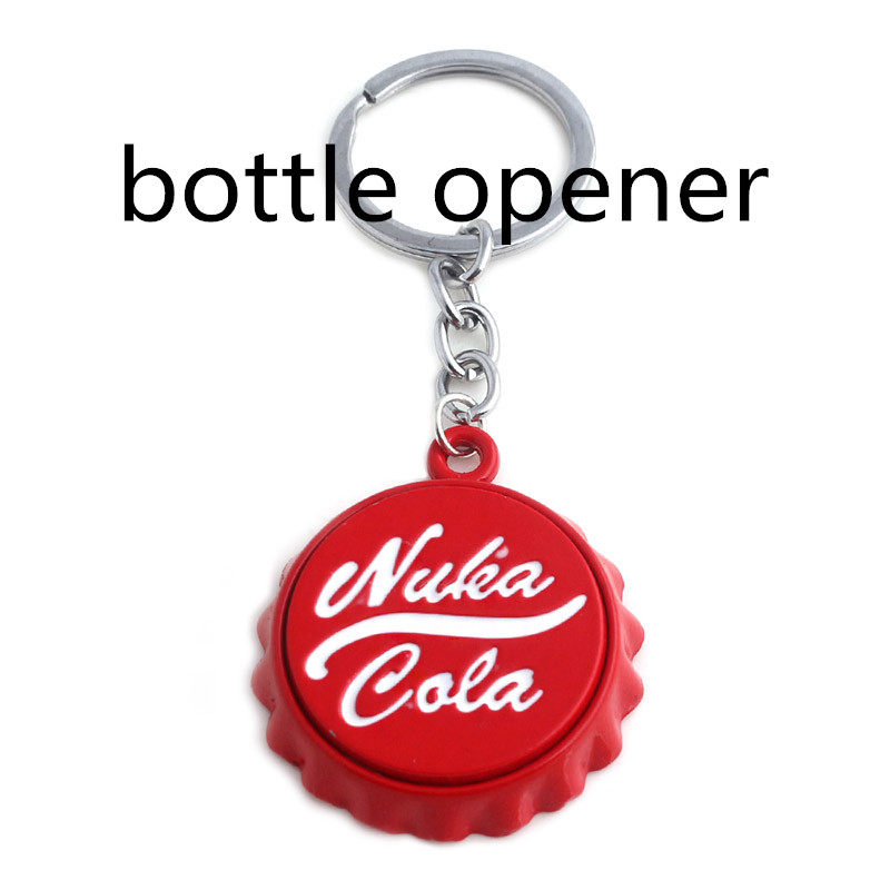 Game Nuka Cola Botter Opener Keychain Keyring Pendant Pip Boy Jewelry Gift For Car Key Holder Friendship Accessories