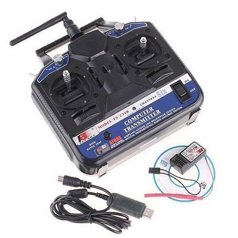 Original FlySky FS-CT6B FS CT6B 2.4G 6CH Radio Kit System ( TX FS-CT6B + RX FS-R6B) RC 6CH Transmitter + 6CH Receiver