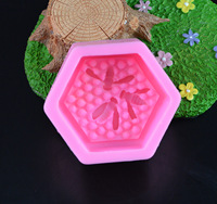 Bee Honeycomb Silicone Soap Molds Fondant Chocolate Cake Mold Resin Clay Candle Moulds DIY Kitchen Baking Cake Tools E925 1