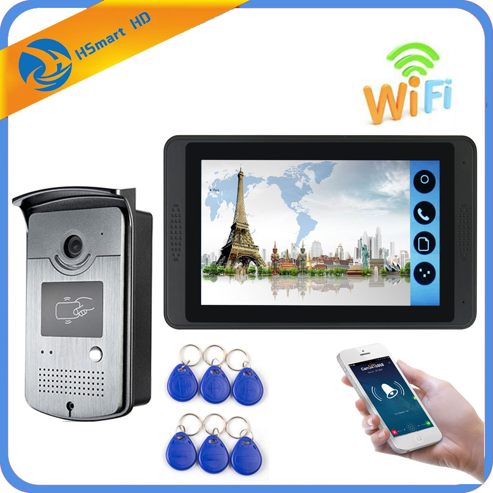 7 Inch Monitor RFID Video Intercom Wifi Wireless Video Door Phone Doorbell 4G Camera Intercom System
