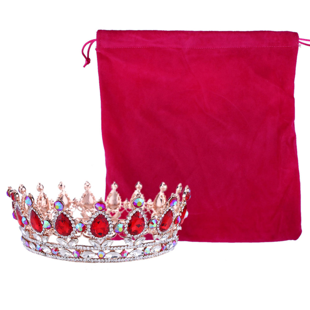 Vrući europski dizajni kraljevski kralj kraljica kruna rhinestone - Modni nakit - Foto 2