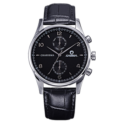 CASIMA fashion casual dress two eyes multifunction week calendar leather watchbnads business watches for men waterproof 5113