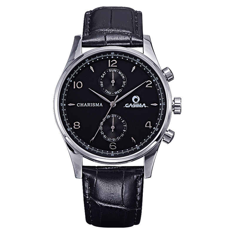 Luxury brand watches men  classic business dress mens quartz wrist watch black leather logio masculino waterproof #CASIMA 5113 luxury brand watch men 2017 classic business dress mens quartz wrist watch relogio masculino waterproof clock man hours casima
