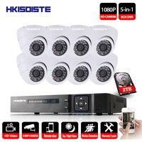1080P HDMI DVR 3000TVL 1080P HD домашние камеры безопасности системы 8CH CCTV товары теле и видеонаблюдения комплект AHD камера комплект