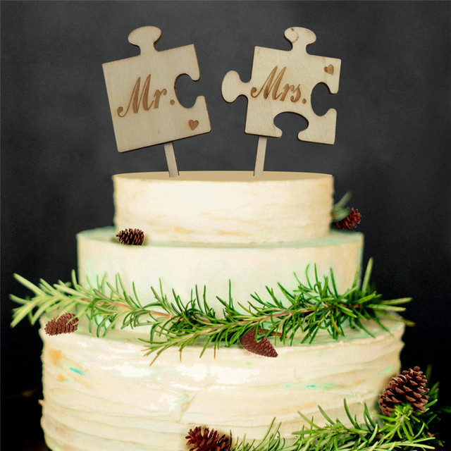 Wooden Wedding Cake Toppers Mr Mrs Couple Wedding Cake Topper Stand