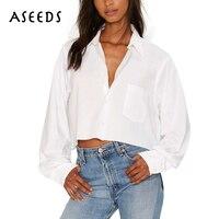 New Fashion White Blouse Women Crop Tops Summer Elegant Long Sleeve Office Shirt Blusas Plus Size