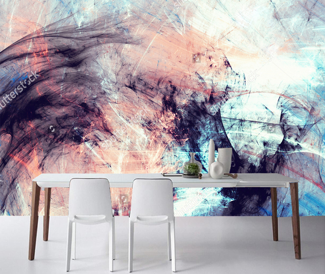 Bon 3D Abstract Art Wallpaper, Color Dynamic Background For The Living Room  Office Background Wall Vinyl