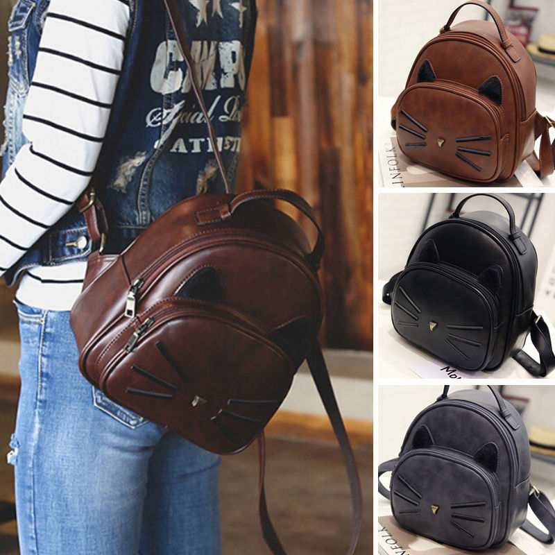Fashion Women Backpack Travel PU Leather Rucksack Shoulder School Bag Backpacks LBY2017