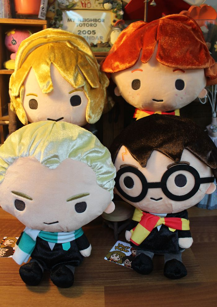 New Harry Potter Plush Toy Harry Ron Hermione Draco Malfoy 30CM Large Gift harry potter single sale action figures hermione granger ron lord voldemort legoings draco malfoy blocks gift toys for children