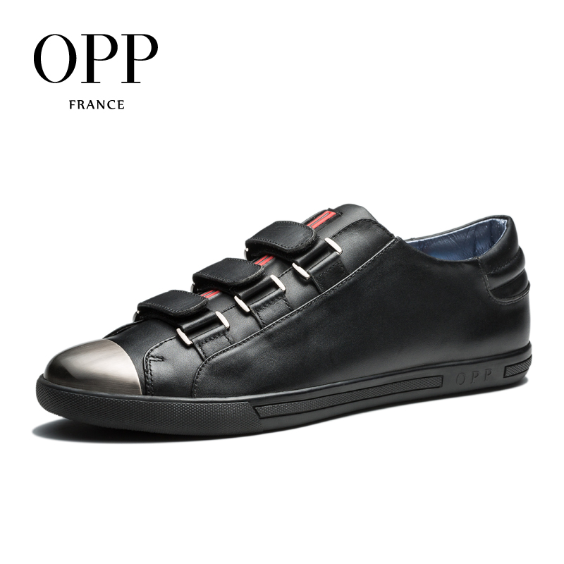 OPP 2017 Men Shoes Loafers For Men Cow Leather Flats Shoes Casual Hook & Loop Shoes Cow Leather Loafers footwear for Men zplover fashion men shoes casual spring autumn men driving shoes loafers leather boat shoes men breathable casual flats loafers