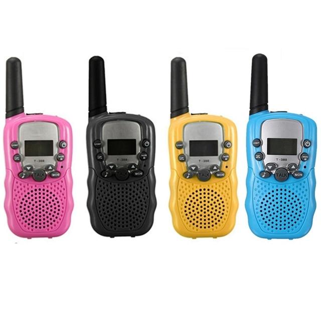 T-388 2pcs Dual Black Adjustable Portable Mini Wireless LCD 5KM UHF Car Auto VOX Multi Channels 2-Way Radio Travel Walkie Talkie