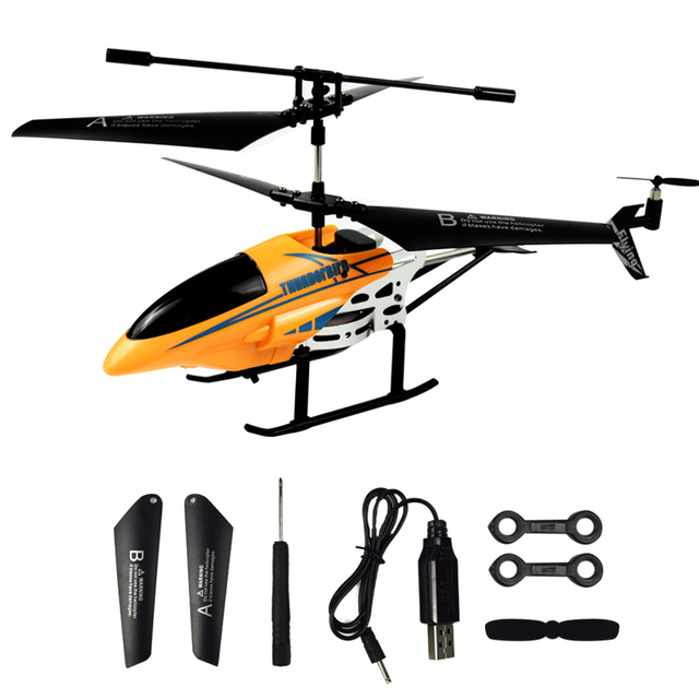 RC Helicopter 3.5 CH Radio Control Helicopters with LED Light Quadcopter Children Christmas Gifts Shatterproof Flying Toys Model