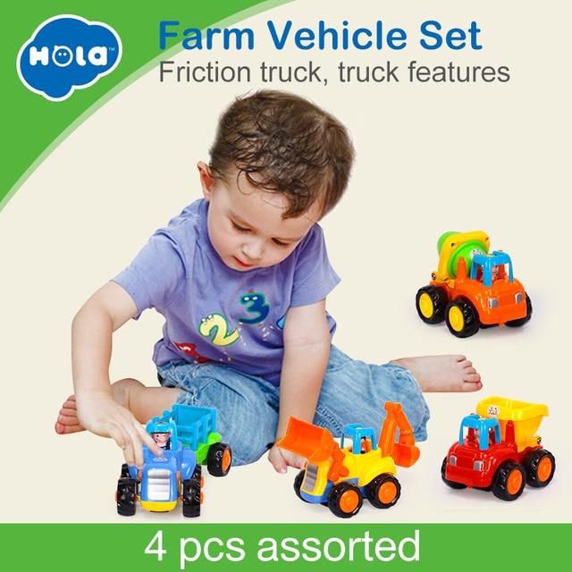 Hola 326 Klasik Kota Konstruksi Bangunan Series Mainan Anak Mobil Mini Smiley Bayi Kembali Truk Mobil Inersia Mobil hadiah