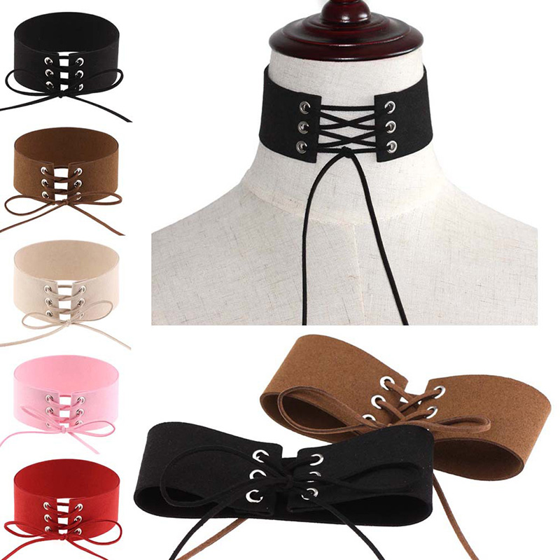 Two tone padded leather bdsm collar leather bondage collar