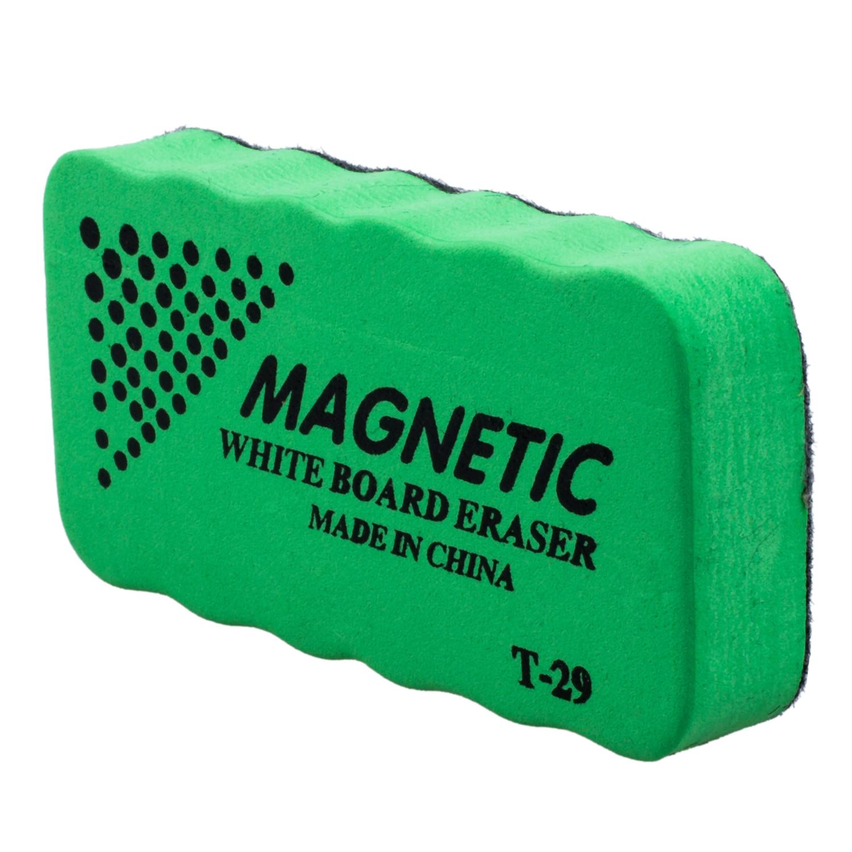 Lovely 1x New Magnetic Board Eraser Drywipe Marker Cleaner Office Whiteboard