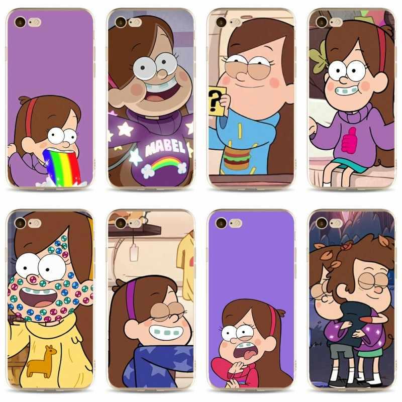 Mabel Trọng Lực Rơi Thiết Kế các trang bìa của điện thoại di động trường hợp 2018 TPU mềm trường hợp Đối Với iPhone 5 5C 5 S SE X 6 6 S 7 7 cộng với 8 8 cộng với