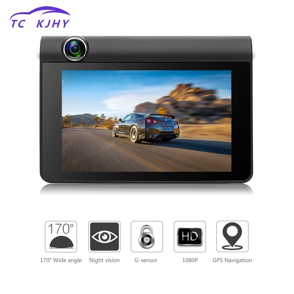 2018 3 In 1 Car Radar Detector DVR GPS Positioning Video 4 Dash Cam Car DVR Camera Dual Lens with Rear View Camera Registrator