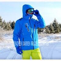 Новая уличная зимняя мужская Лыжная куртка с защитой от воды, дышащий термальный костюм для сноуборда верхняя одежда зимняя Лыжная куртка з