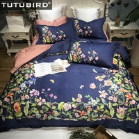 TUTUBIRD Luxury Egyptian Cotton Pastoral bedding set Fashion brand Digital Print duvet cover bedspreads bed sheets