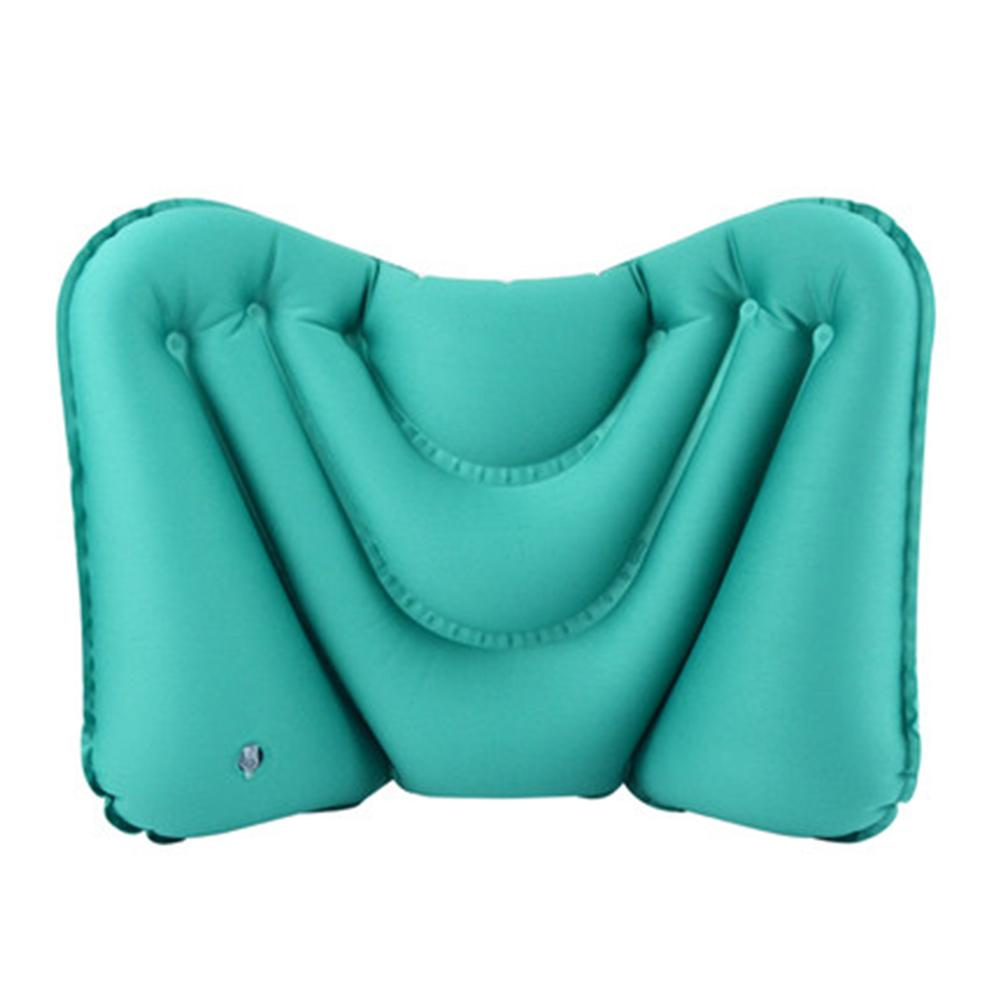 Portable Pillow For Outdoor Camp Sport Hiking Backpacking Night Sleep Car Airplane Lumbar Air Pillow In Travel Air Pillows image
