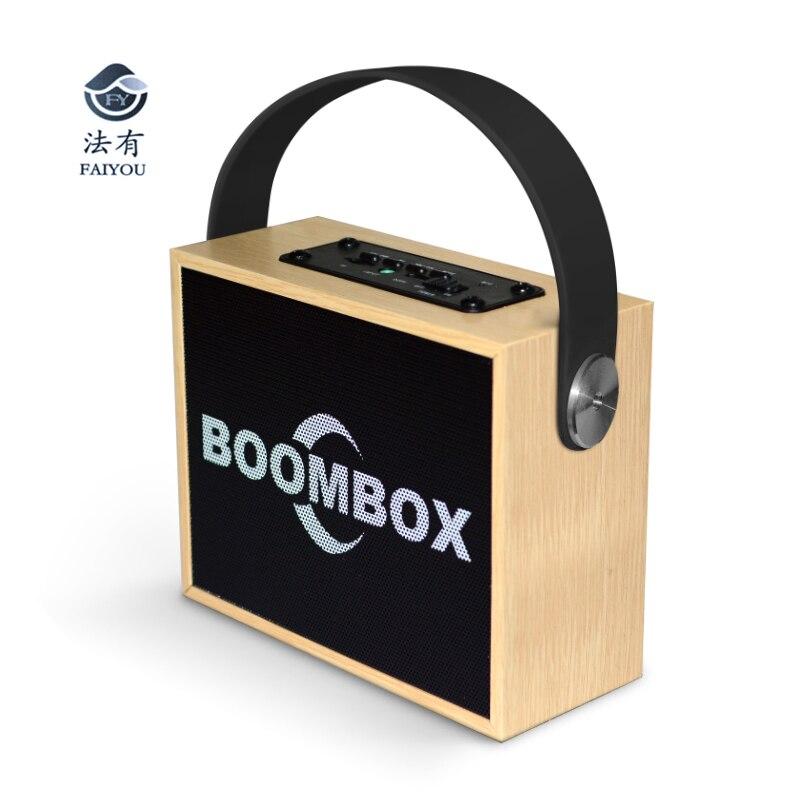 Portable 10W Bluetooth Wireless Wooden Speaker Stereo Bass HIFI 3D Surround Subwoofer Handsfree TF Card Aux FM Radio portable wireless bluetooth audio speakers aux mini fm radio usb card subwoofer bass loudspeaker karaoke 3d surround sound box