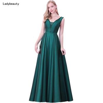 Ladybeauty 2018 Neue V-ausschnitt Perlen Backless A-linie Langes ...
