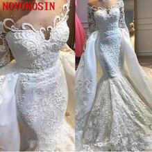 Женское свадебное платье с длинным рукавом винтажное кружевное