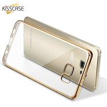 KISSCASE Soft Silicon Case For Samsung Galaxy S6 S6 Edge S6 край Плюс Гибкая Резиновая Case Plating ТПУ Ультра Тонкий Обратно Оболочки