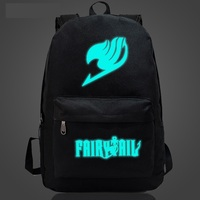 Fairy Tail Backpack Japan Anime Printing School Bag for Teenagers Cartoon Travel Bag Canvas Fashion Mochila Galaxia