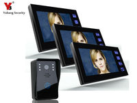 Freeship By DHL 7 Inch Video Intercom Monitor For Home Digital LCD Door Viewer Video Porteiro