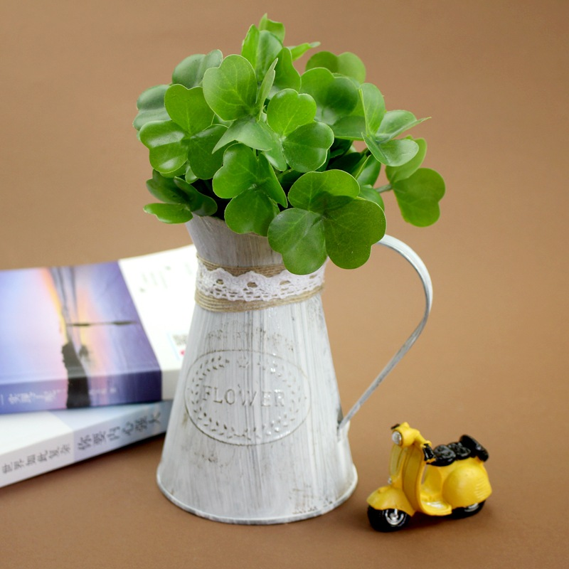 Vintage Metal Crafts Flower Watering Can Ornaments Gardening Pot Model Storage Box Figurines Home Decoration Accessories Gifts