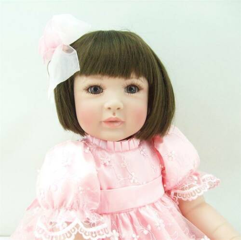 20'' Handmade Lifelike Baby Girl Doll Silicone Vinyl Reborn Newborn Doll Baby Doll Toy Toddler Boy Toys