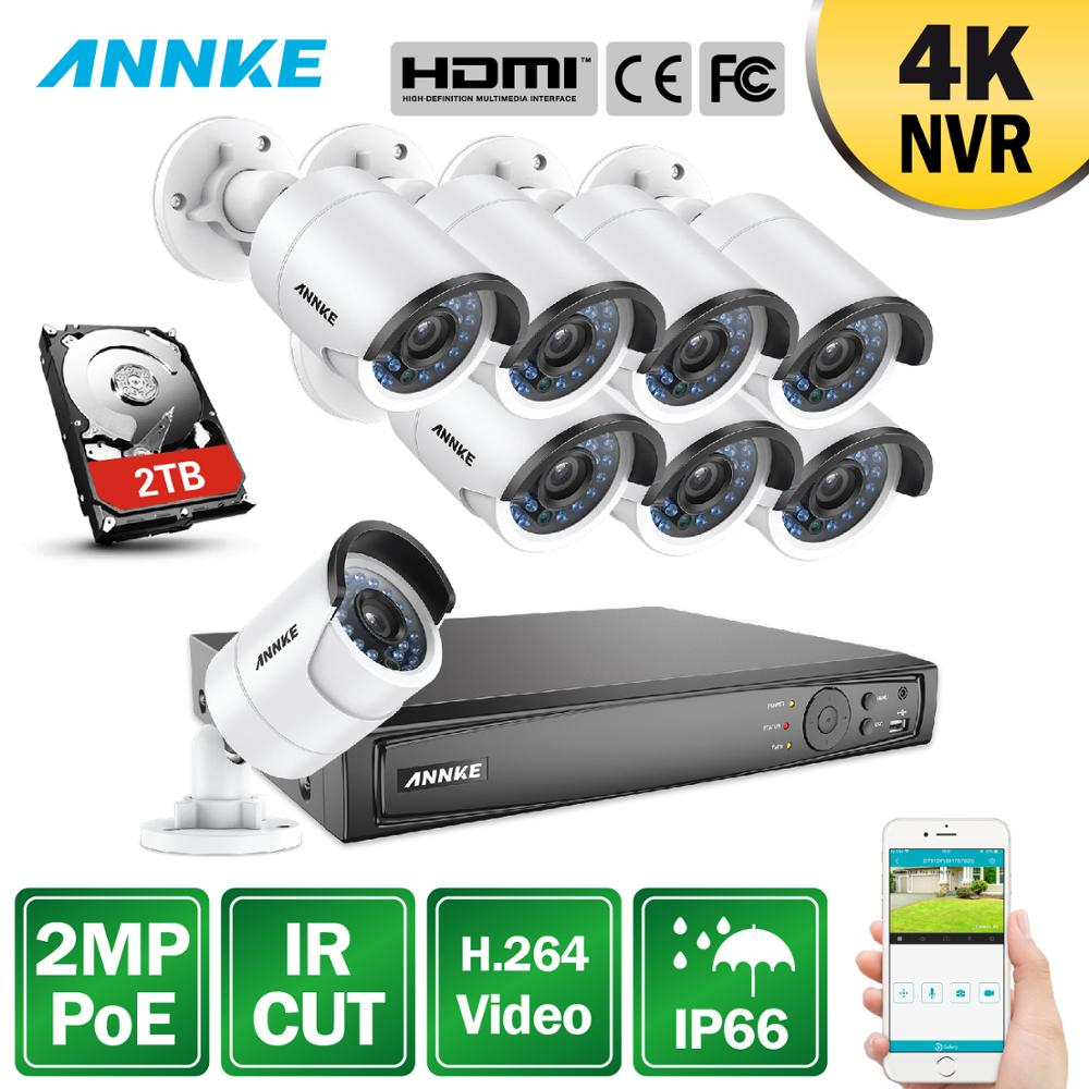 ANNKE 2pcs HD TVI 1080P Smart Security Camera 2MP Video Outdoor IR Night Vision