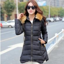 Winter Long Jacket Women 2016 New Fshion Womens Parka Casual Outwear Nagymaros collar Hooded Coat Fur Coats Manteau Femme