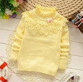 Girl Fashion Design Clothing Child Color Sweater Kids Cotton Lace Collar Sweaters Fashion Clothes