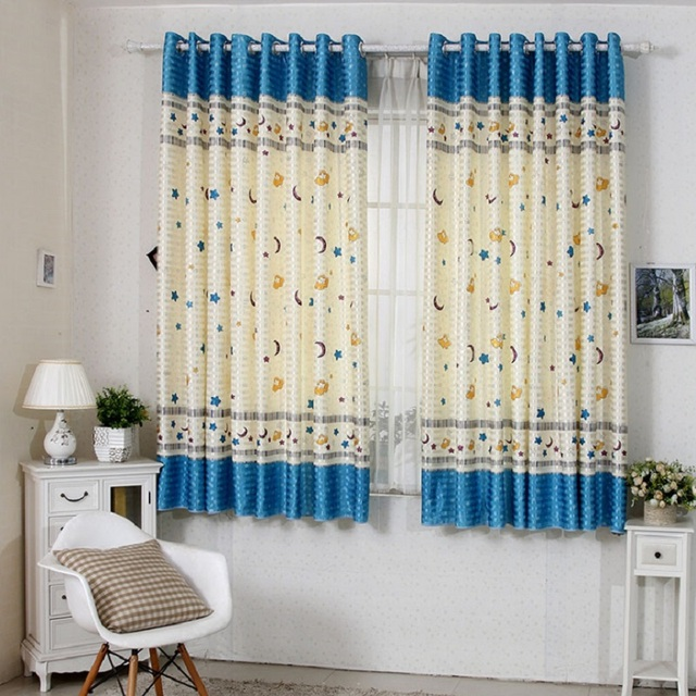 Childrens Girls Room Short Warm And Loving Pattern Curtains For Windows Living Bedroom Highest Height