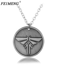 The Last Of Us Necklace The Last Survivors Round Grey Firefly Pendant Necklaces For Women Men Fashion Accessories Collar Jewelry(China)