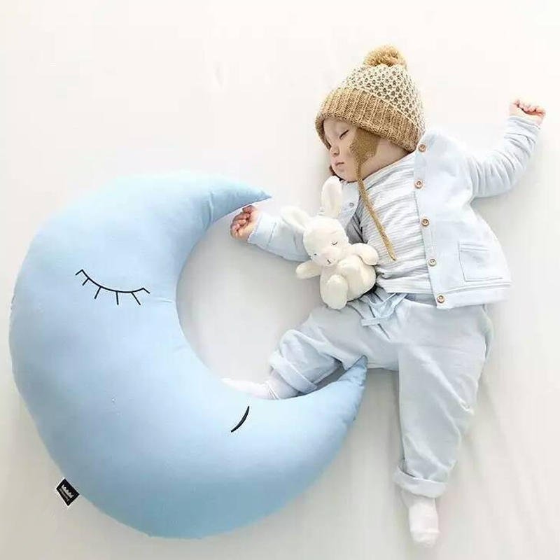 Новое поступление мигает Луна Плюшевые игрушки сна световой индикатор подушки плюшевые Л ...