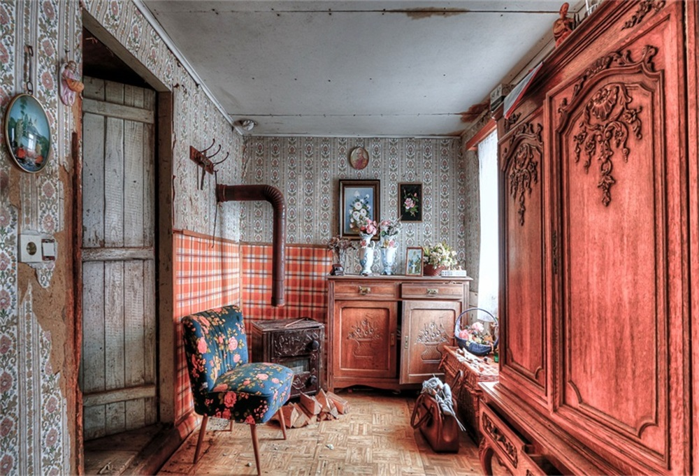 Laeacco Vintage House Wooden Pattern Door Desk Photography Backgrounds Customized Photographic Backdrops For Photo Studio