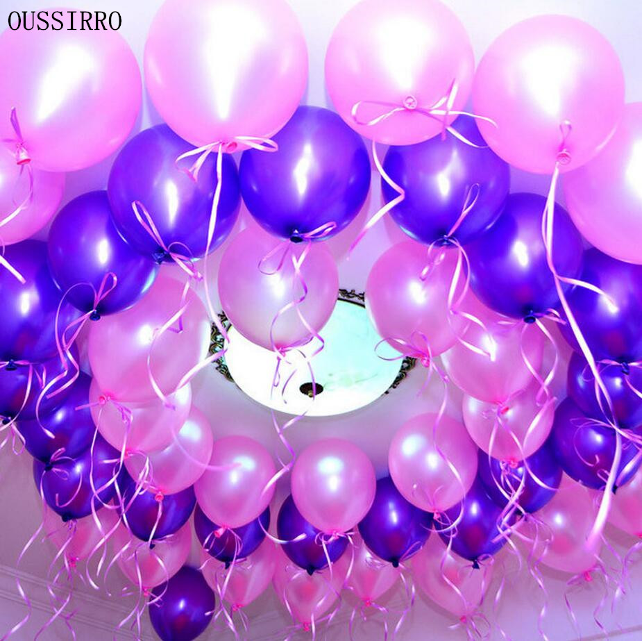 New 2017 OUSSIRRO 100pcs 10 inch colorful Pearl Latex Thickening Wedding Party B