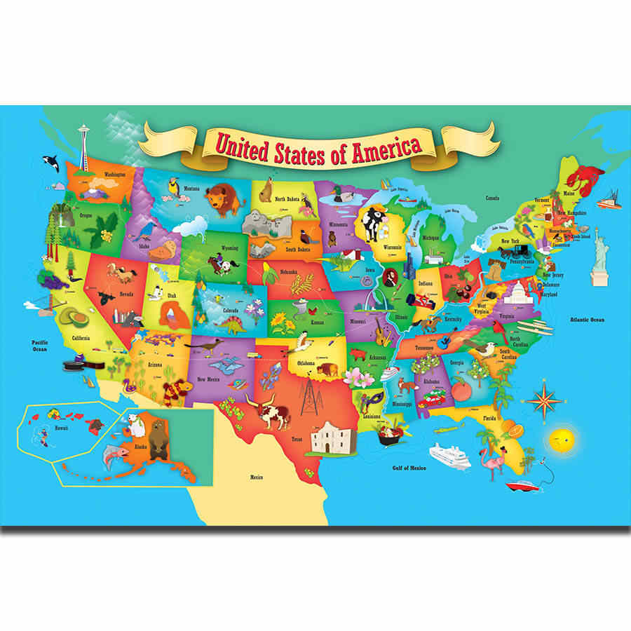 Detail Feedback Questions about S1833 Kids Education World Map Of ...