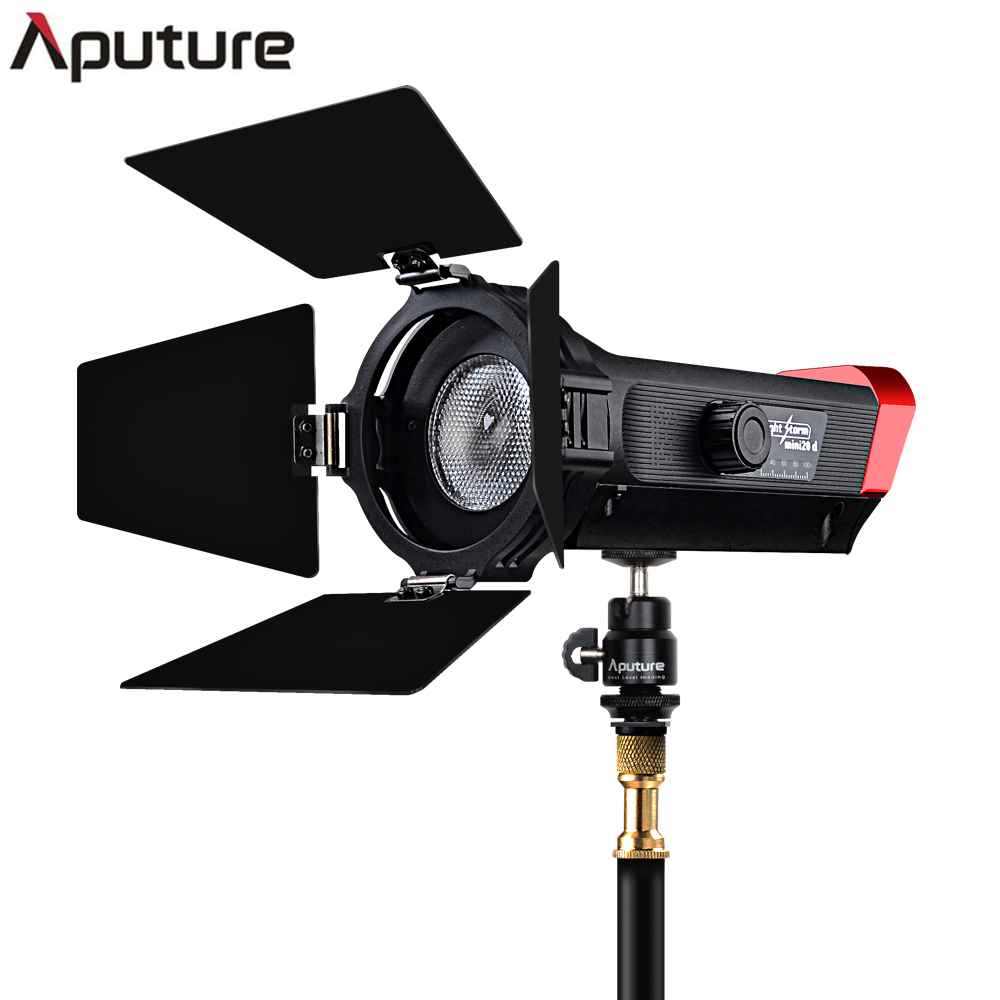 Aputure LS mini 20d fresnel studio light TLCI 97+ Color Temperature 7500K-300K Portable and Lightweight Angle Adjust aputure ls mini 20 3 light kit two mini 20d and one mini 20c led fresnel light tlci cri 96 40000lux 0 5m 3 light stand case