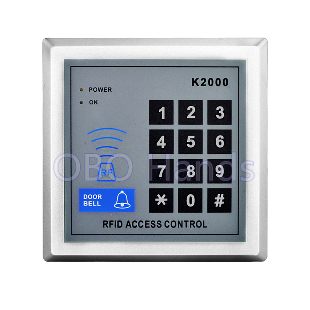 Hot Sale Rfid 125KHz ID Card Reader Access Control Keypad System Digital Password Door Lock With Doorbell Function-K2000 Model contact card reader with pinpad numeric keypad for financial sector counters