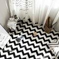 WINLIFE Европейский Простой ковер в черно-белую полоску для дома  гостиной  спальни  журнальный столик  напольный ковер  гардероб  коврики