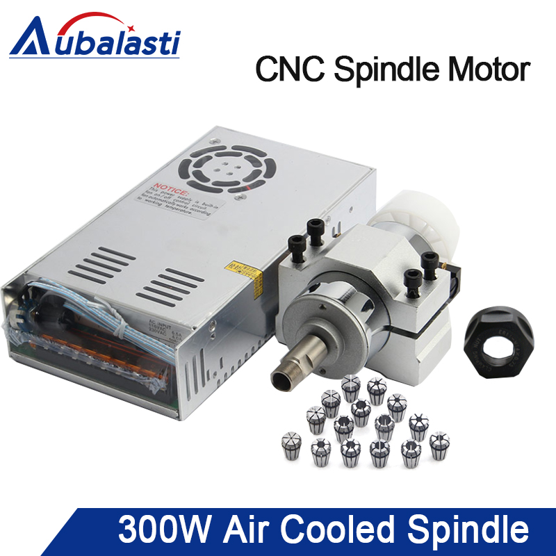 CNC Spindle Motor 300W Air Cooled Spindle ER11 Milling Router Tools 110V/220V Adjustable Power Supply 52mm Clamp Collet Chuck блок питания aerocool vx 700 rgb 700w