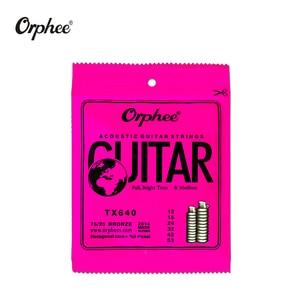 Image 4 - Freies verschiffen 10 stücke orphee gitarre saiten TX620/TX630/TX640 akustische gitarre saiten Extra Licht