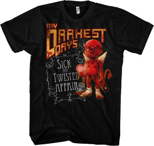 MY DARKEST DAYS - Sick And Twisted Affair - T SHIRT S-M-L-XL Brand New Official Sleeve T Shirt Summer Men Tee Tops Clothing