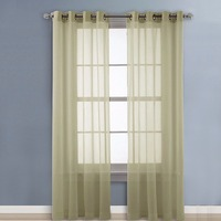 Ivory Lighter Wedding Decoration Sheer Panel Curtains Scarf Home Decor Solid Sheer Scarf Voile Valance Curtain