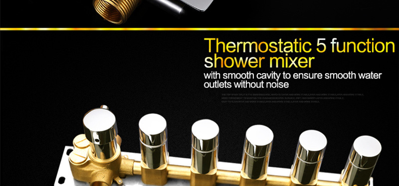 Bathroom Fixture Shower Faucets Ceiling Mounted Waterfall Mist Shower Head Big Rain LED Shower Set High Flow Thermostatic Bath (41)
