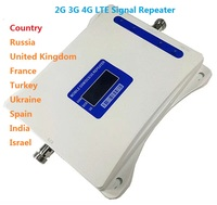 GSM 900 WCDMA 2100 LTE 1800 Tri Band Mobile Phone Signal Booster 70dB Gain Cell Phone Cellular Repeater 2G 3G 4G Amplifier